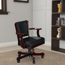 Benzara BM68949 Expedient Upholstered Arm Game Chair, Green And Brown
