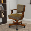 Benzara BM68983 Cozy Upholstered Arm Game Chair, Brown