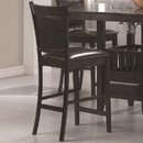 Benzara BM68984 Counter Height Chair Vinyl Padded Seat & Back, Espresso Brown, Set of 2