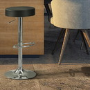 Benzara BM69050 Stylish And Elegant Backless Adjustable Bar Stool, Black