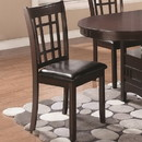 Benzara BM69065 Armless Dining Side Chair, Espresso Brown & Black, Set of 2
