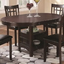 Benzara BM69083 Wooden Dining Table With Storage Compartment, Espresso Brown