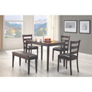 Benzara BM69422 Sophisticated 5 Piece Dining Set with Bench, Brown