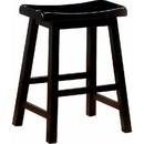 Benzara BM69425 Wooden Casual Counter Height Stool, Dark Brown, Set of 2