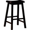 Benzara BM69426 Wooden Casual Bar Height Stool, Dark Brown, Set of 2