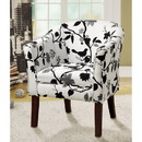 Benzara BM69600 Fancy and Chic Accent Chair, Black/White