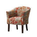 Benzara BM69601 Colorfully Catchy Accent Chair, Multicolor