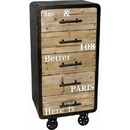 The Urban Port C214-123043 Industrial Five Drawer Cabinet