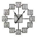 Benzara ETD-EN110316 Classic And Uniquely Designed Metal Wall Clock