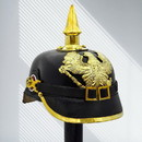Benzara I305-HGM013 German Pickelhaube Officer Imperial Prussian Helmet, Black and Gold