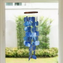 The Urban Port UPT-207779 Aesthetically Designed Handmade Wind Chime with Capiz Shell Hangings, Blue