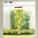 The Urban Port UPT-207780 Aesthetically Designed Handmade Wind Chime with Capiz Shell Hangings, Green