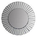 The Urban Port UPT-226276 28 Inch Round Floating Wall Mirror with Mirrored Frame Work, Silver