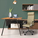The Urban Port UPT-230092 Adjustable Diamond Stitched Ergonomic Leatherette Office Chair with Casters, Beige and Chrome