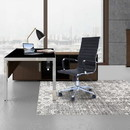 The Urban Port UPT-230093 Adjustable Horizontal Ribbed Ergonomic Leatherette Office Chair with Casters, Black and Chrome