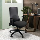 The Urban Port UPT-230098 Mesh Back Adjustable Ergonomic Office Swivel Chair with Padded Seat and Casters, Black and Gray