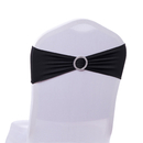 ASPIRE 50 Pieces Spandex Chair Sashes Bows Elastic Chair Bands with Buckle Slider Sashes Bows for Wedding Decorations