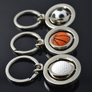 Aspire Rotating Sports Ball Keychain Mental Keyrings, Wholesale Keychains