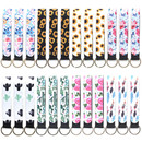TOPTIE 24 Pcs Neoprene Wristlet Keychain, Hand Wrist Lanyard Strap, Wristlet Holder for Women Girls