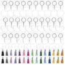 TOPTIE Acrylic Keychain Blanks, Transparent Circle/Heart/Star Blanks, 2