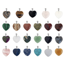 TOPTIE Heart/Moon/Drop/Round/Irregular Shaped Stone Pendant, Healing Crystal Charm, Jewelry Making