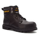 Cat Footwear P89135 Men's Black Second Shift Steel Toe Work Boot