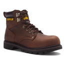 Cat Footwear P89586 Men's Dark Brown Second Shift Steel Toe Work Boot