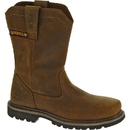 Cat Footwear P90439 Men's Dark Brown Wellston Pull On Steel Toe Work Boot