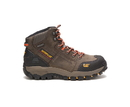 Cat Footwear P90613 Men's Navigator Mid Waterproof Steel Toe Work Boot, Dark Gull Grey