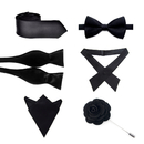 TopTie Skinny Regular Necktie Bow Tie, Handkerchief, Criss-Cross Tie, Lapel Pin