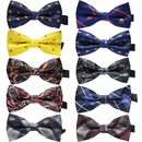 TopTie 10 PCS Mens Pre-tied Adjustable Bow Tie for Boy, Mixed Color Assorted Ties