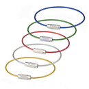 GOGO 300PCS Wire Keychains Bulk, Stainless Steel Cable Key Ring 6