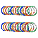 GOGO 120 PCS Round Shape Aluminum Carabiners 2 Inch, Assorted Colors