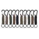 Aspire 10 PCS Paracord Keychain Carabiner Braided Lanyard Utility Ring Hook