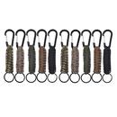 Aspire 10 pcs Paracord Keychain Carabiner Braided Lanyard Utility Ring Hook
