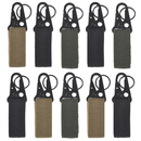 Aspire 10 Pcs Tactical Gear Clip Nylon Quick Release Key Chain Utility Hanger Carabiner