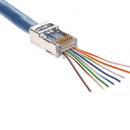 CableWholesale 100021C Platinum Tools EZ-RJ45 Shielded Cat6 Crimp Plugs (Cat5e Compatible), internal ground, Slide Through Wires, 10 Pieces Clamshell
