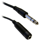 CableWholesale 10A1-62210 1/4 inch Stereo Extension Cable, TRS, Balanced, 1/4 inch Male to 1/4 inch Female, 10 foot