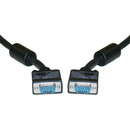 CableWholesale 10H1-20101 SVGA Cable with Ferrites, Black, HD15 Male, Coaxial Construction, Double Shielded, 1 foot