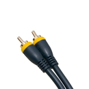 CableWholesale 10R2-71106 High Quality Composite Video Cable, RCA Male, Gold-plated Connectors, blue, 6 foot
