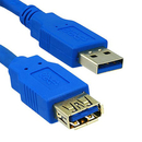 CableWholesale 10U3-02103E USB 3.0 Extension Cable, Blue, Type A Male / Type A Female, 3 foot