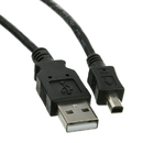 CableWholesale 10UM-02106BK-4 Mini 4 Pin USB 2.0 Cable, Black, Type A Male to 4 Pin Mini-B Male, 6 foot