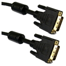 CableWholesale 10V2-05315BK-F DVI-D Dual Link Cable with Ferrite, Black, DVI-D Male, 15 meter (50 foot)