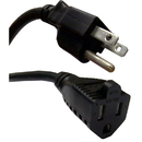 CableWholesale 10W1-04203-16 Power Extension Cord, Black, NEMA 5-15P to NEMA 5-15R, 13 Amp, 16 AWG, 3 foot