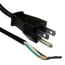 CableWholesale 10W1-10106 NEMA 5-15P to Standard ROJ Power Cord, Black, 18/3 (18AWG 3 Conductor) SVT, 10 Amp / 125 Volt, 6 foot