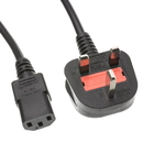 CableWholesale 10W1-12206 England / UK Computer/Monitor Power Cord with Fuse, BS 1363 to C13, VDE Approved, 6 foot