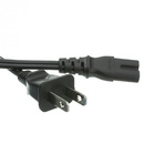 CableWholesale 10W1-13206 Notebook/Laptop Power Cord, NEMA 1-15P to C7, Non-Polarized, 6 ft