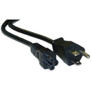 CableWholesale 10W1-15206 Notebook/Laptop Power Cord, NEMA 5-15P to C5, 3 Pin, 6 foot