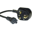 CableWholesale 10W1-15406 England / UK Notebook/Laptop Power Cord with Fuse, BS 1363 to C5, Polarized, VDE Approved, 6 foot