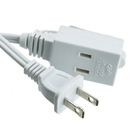 CableWholesale 10W1-39106 6ft 3 Outlet Power Extension Cord, UL/CSA White 16/2